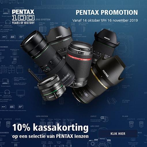 Pentax 15% kassakorting op objectieven