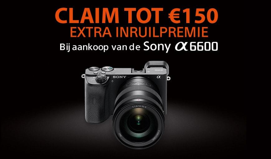 Sony A6600 extra inruilpremie
