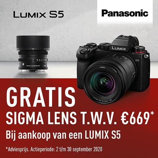 Gratis Sigma 45mm f2.8 bij Panasonic S5