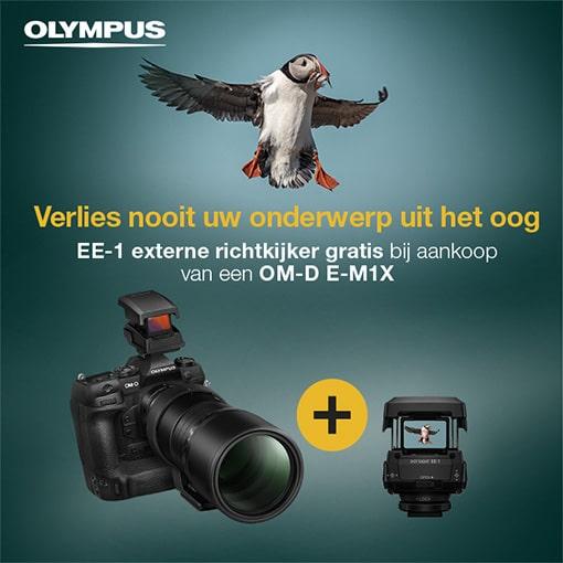 Gratis Dot Sight bij een Olympus E-M1X