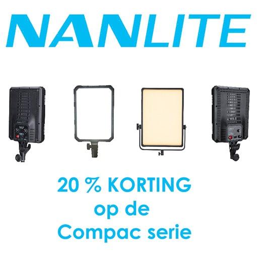 Nanlite 20% kortingsactie LED
