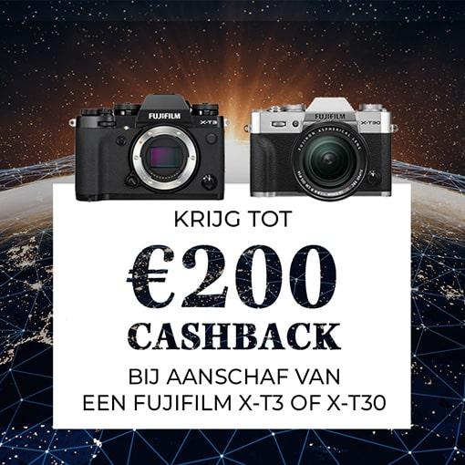 Fujifilm X-T3 en X-T30 Cashback