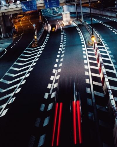 Willem Sizoo maakte deze foto met lange sluitertijd in Tokyo met de LUMIX S1R