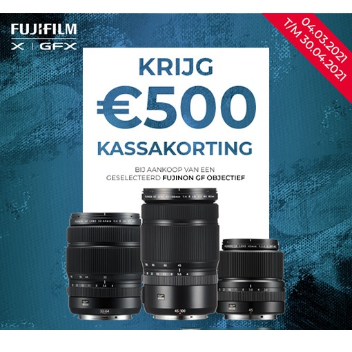 Fujifilm GF €500 Kassakorting